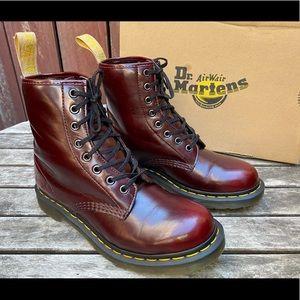 Dr. Martens Vegan 1460 Cherry Red Combat Boot